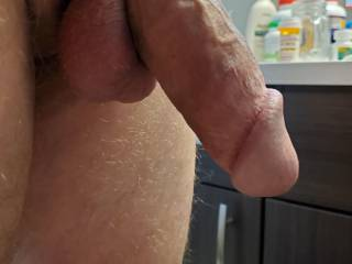 Trying on new cock ring