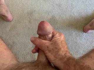 """Mr. F having a little fun just before our """"date"""".  Can you believe that 20 minutes later that big cock was buried up to the hilt in my vagina?!  From Mrs. Floridaman"""