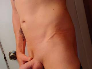 Hubby giving a girl friend of mine and myself a little peekaboo at what shes going to get to feel!!! Want to share him with me next?