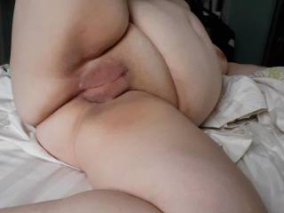 Wife showing me her freshly shaven pussy on Valentine's Day