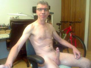 Hard on cam in the video chat room