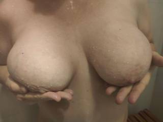 Get into the shower now! Take care of these married tits. Lather me up and fuck me hard.