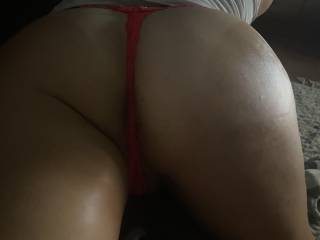 Picture of my wife's ass watching tv
