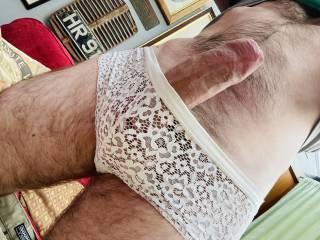 Hard in panties