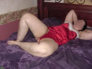 Ann showing off her lingerie & legs.