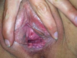 Delicious Peehole, I'd love to push the tip of my tongue in there while licking your pussy
