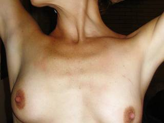 I would suck and nibble these perfect nipples, and then splash these gorgeous titties with my hot cum
