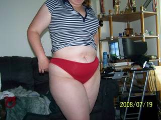 Lupo\'s wife showing me her sexy body in the panties she bought to wear for me