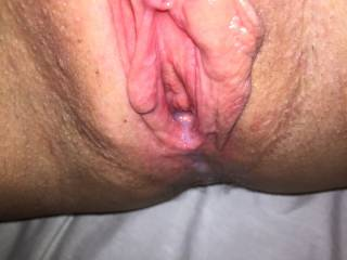 Would luv to see my cum dripping out of that beautiful pussy of yours after a very thorough fucking. mmmnnnn