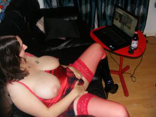 Doing a cam show for a horny guy in his late 60s