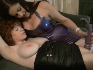 The dominatrix wanted to give her new young slave an orgasm. The slave was very shy and very nervous but soon she relaxed and let herself go under the power of domination!!