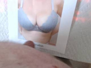 Well this sexy lady who I\'ve done a previous tribute video for wanted one with her new bra.  I like the puppies to be free, but she wanted it that way and I was happy to oblige.