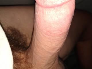 Just horny Especially hard tonight watching my wife masterbating