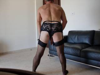 just bought some new lace black panties could not wait to get home to try them on, such a turn on in the panty shop