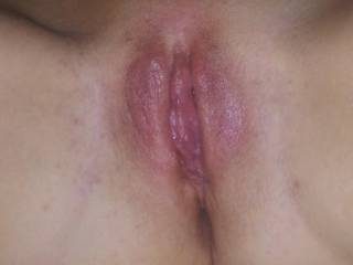 My swollen clit after I got off from him eating me. YUM!