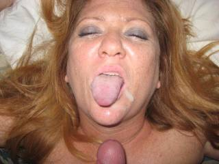 my hubby is a cuckold too, i make him clean up after i've been fucked.