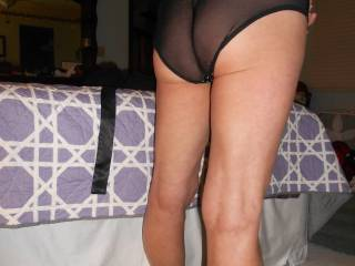 Just getting dressed, trying on some new panties