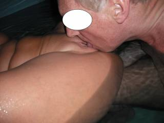 Pussy licking fun in our spa the other night