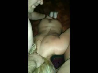 While playing a game of truth or dare my wife lost a dare bet and gave two guys a blowjob.