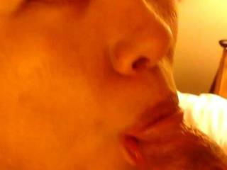 More of Mihn. Staring up at me with my cock in her mouth. Three days of my cock in her mouth, rubbing and slapping it all over her face and cumming on her face. Three amazing days. She was a perfect cock worshipping facial slut for me and she loved it.