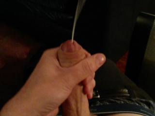 The inital burst of cum.... ive hit the ceiling a couple times! The longer the session... the more powerful the squirt!