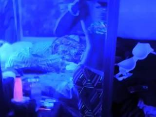 I love watching my girl dance dirty for me in the black light room. who wants a lapdance?