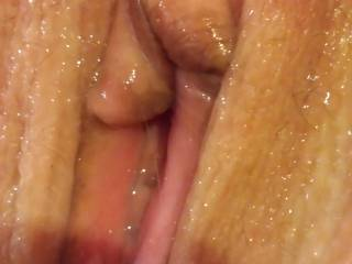 Close uo of wet pussy waiting for cock
