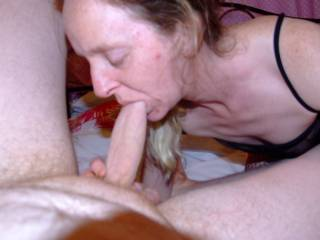 Another photo of Joanne sucking my cock she does like to suck