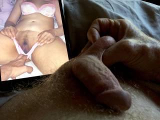 Massaging my balls with Ramitjohn as my cock gets hard.