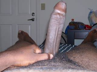 Great uncut cock...please post more...love your foreskin and thickness.