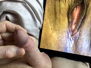 Thoughts of eating pussy as I jerk my cock.