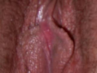 My pink pussy after being licked sucked n fucked ...