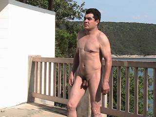 first time naked in open.