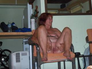 The Red Head Gilf is well used pussy is open and wet.... she was done when I tookd this picture although I think I picked her up and pounded her once more for round 4....she goes along with it well so.....