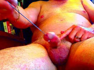 """Love watching that bulge sliding up and down your shaft as you're fucking it with that fat tulip. Also the """"pop"""" as you pulled it out the last time.  Absolutely cock hardening!"""