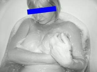 Oooh Tina, gorgeous soapy tits. Would you like a hand?