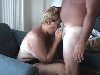 Wife started to suck my cock nice and she ended up getting a hard face fucking more parts to come