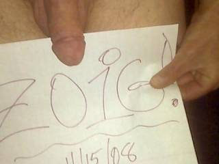 Well, I decided it was time to let the world know how much I enjoy Zoig! My dick, however, is waiting for some serious pussy or ass or tits or mouth to get hard and unload for before he gets fully hard. Anybody wanna' give it a go in Los Angeles?