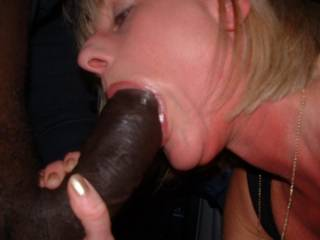My friend - sucking on her black boyfriends cock....her husband is taking the pictures!!  Hopefully I can borrow him soon!!  Emz xxx