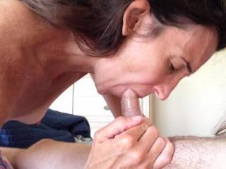 I'd like to be behind her fucking that pussy while she's sucking your cock