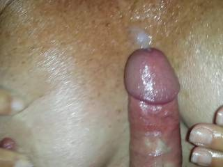 Love to cum on titties with big nipples.