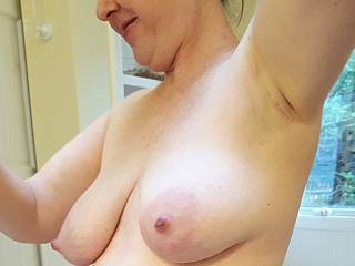 Heavy milk filled breasts hang so nicely, don't they?
