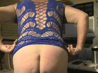 Just me showing off my Butt and my newest lingerie.  So what do you think better with lingerie on or off?