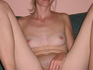 me masturbating, right before my first group fuck