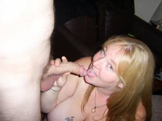 She seems to be enjoying herself as I know i would be if it was my cock being sucked by her.
