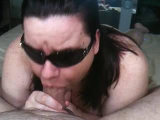Sucking my mans cock