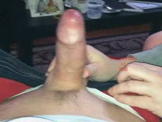 jerking out a big creamy one!