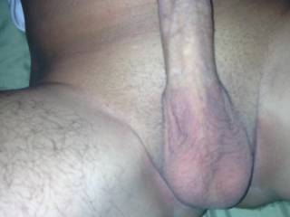 Damn, that is beautiful....what a gorgeous cock. I'd love to suck it. Beautiful balls too. I could gobble that cock up every day.  I think we could take some great pictures together! Love the cockhead pic and I like your grooming!  Mrs.M