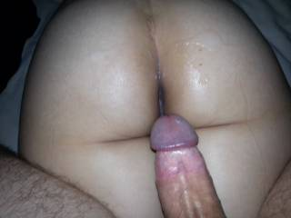 Nice big load coming out of that big cock, i would love to add a second load on her sweet ass.