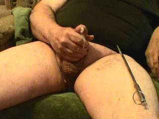 My cumshot after sounding my cock with a 10 inch long vibrating metal Sound. Want to try it??